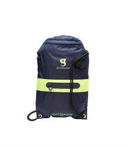 DRAWSTRING W/ZIP POCKET WATERPROOF BACKPACK