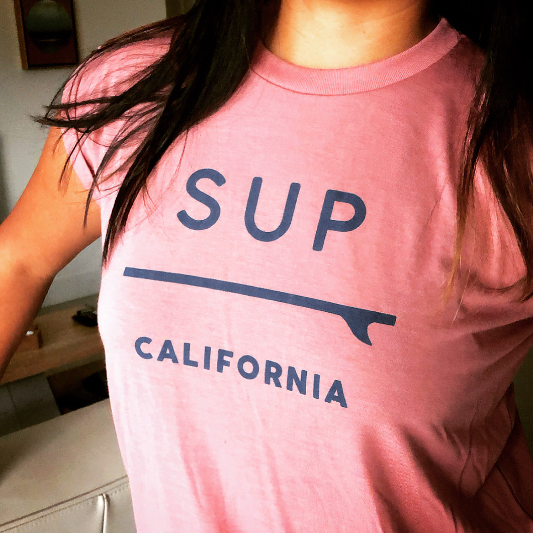 SUP California Women's Rolled Muscle Tee