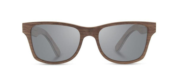 Shwood Canby Sunglass in Walnut / Grey Polarized