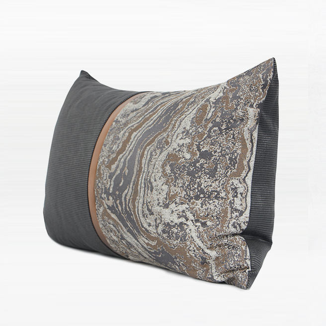 CETO Marble Grey Cushion 30x50 cm