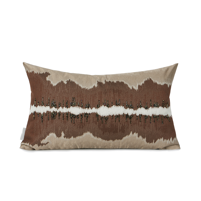 CLIO Jacquard Brown Cushion