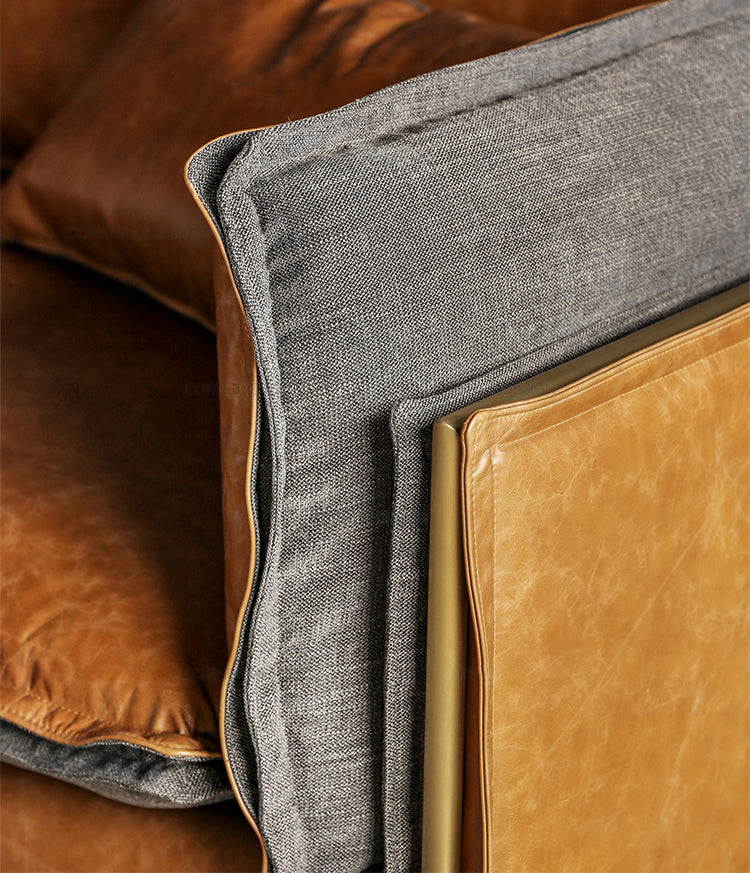 Geo Luxury Leather Sofa