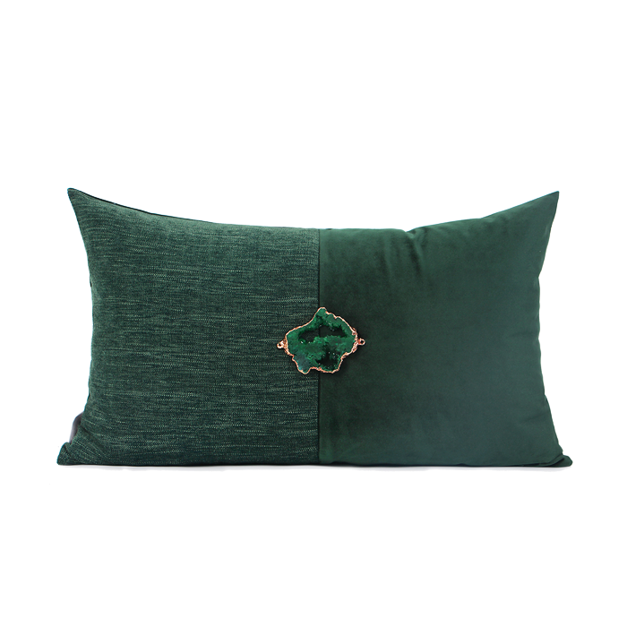 Green Gem Cushion 30x50cm (CLEARANCE)