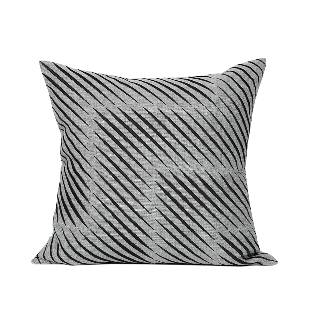 Scarlett Grey Slashed Cushion
