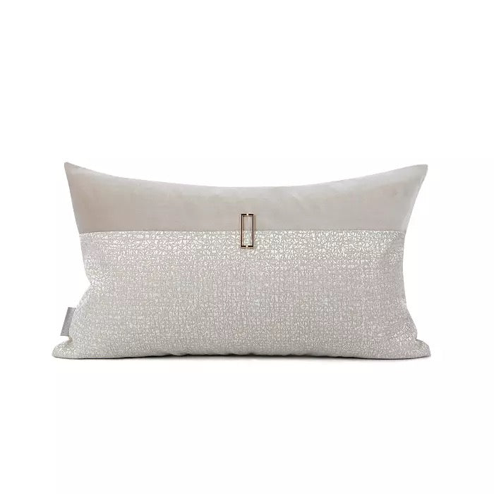 Beige Glossy Cushion