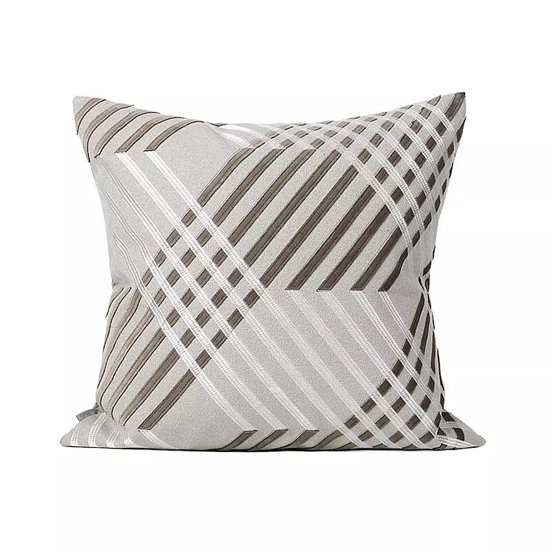 Avery Neutral Striped Cushion