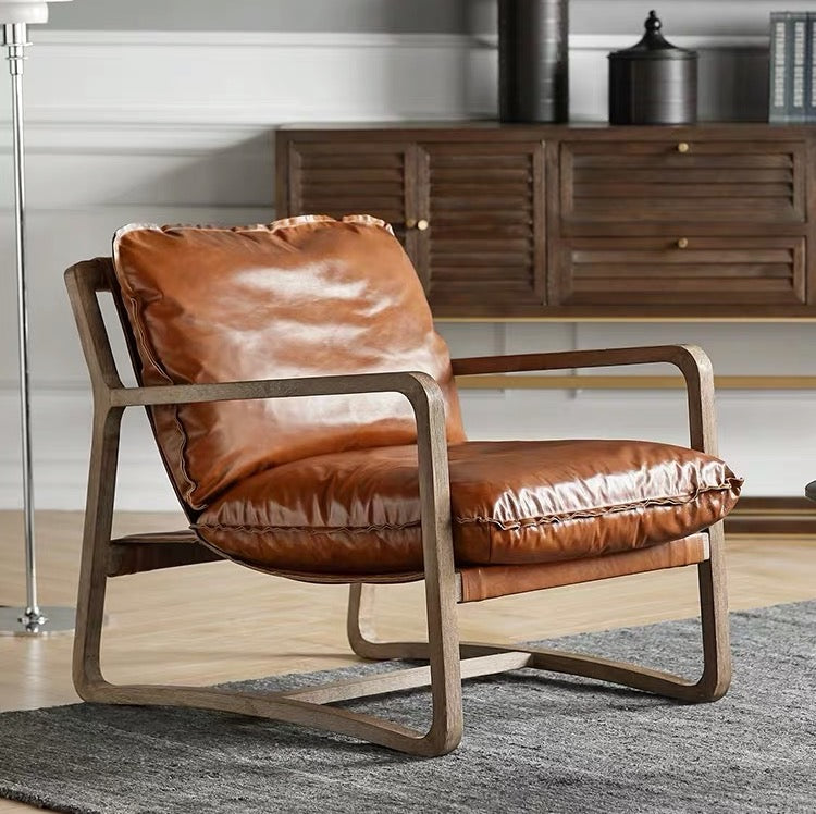 Aster Luxury Leather Armchair