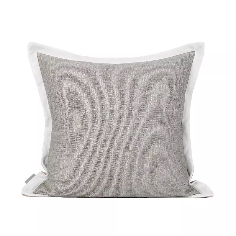 Ruby Grey and Pink Cushion