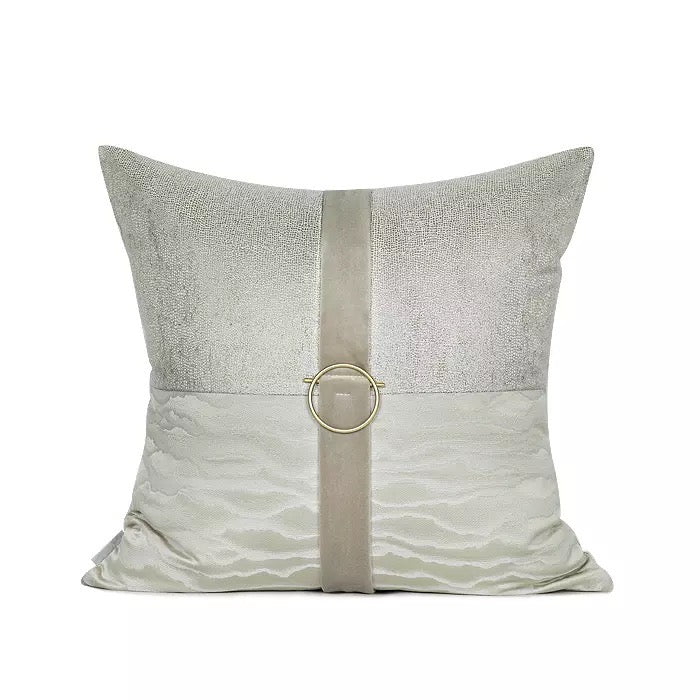 Jasleen Golden Buckle Cushion