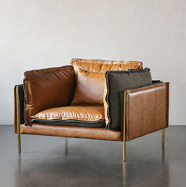 Geo Luxury Leather Armchair