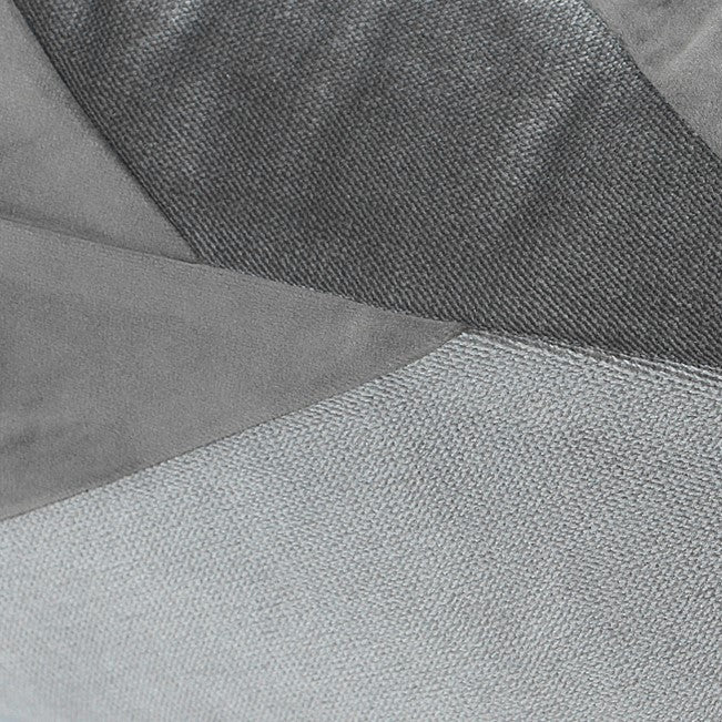 Indie Grey Splicing Cushion