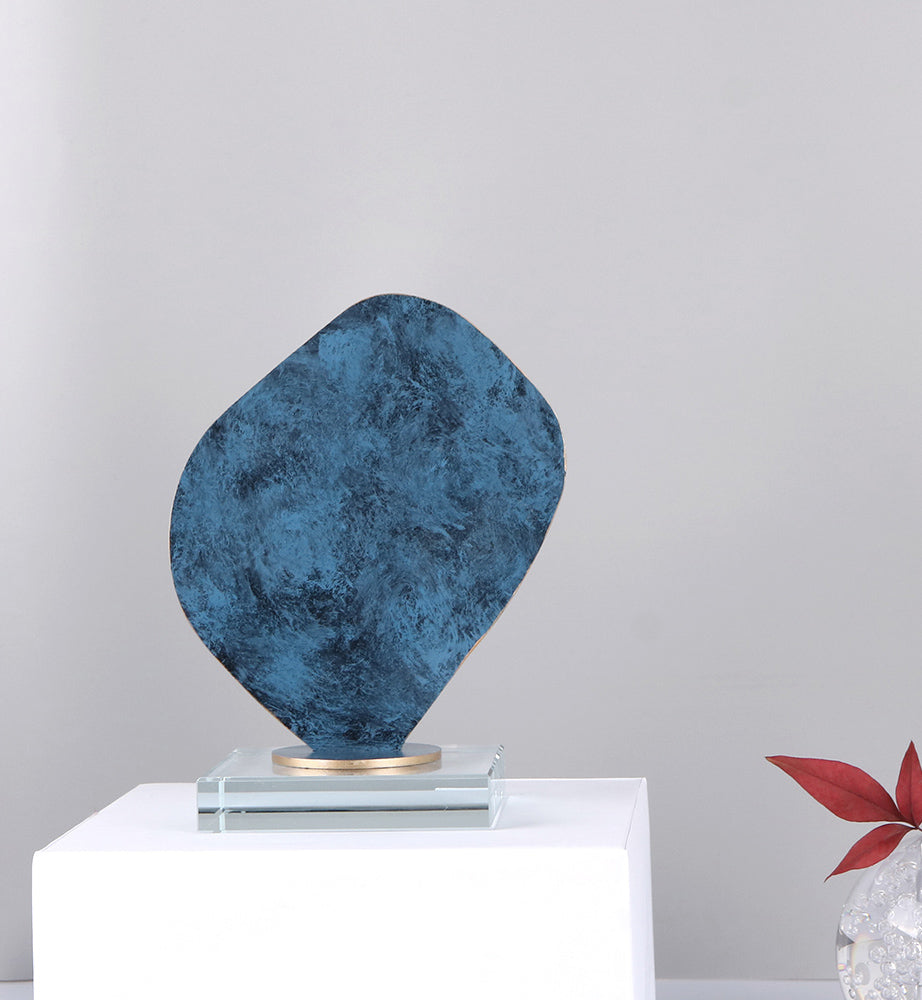 Stone Sculpture on Stand - Blue