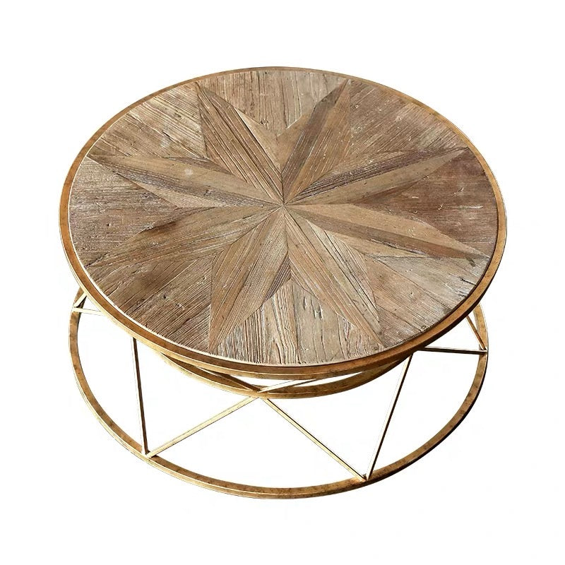 JOHAN Round Wooden Coffee Table