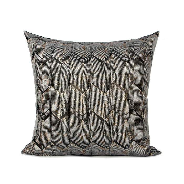 NYX Ash Grey Patterned Cushion