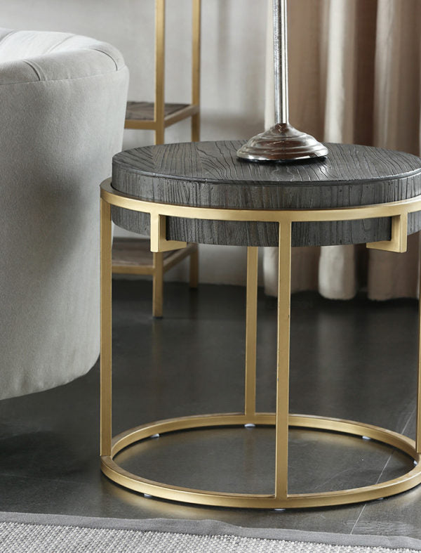 PHILlO Round Brass Frame Table