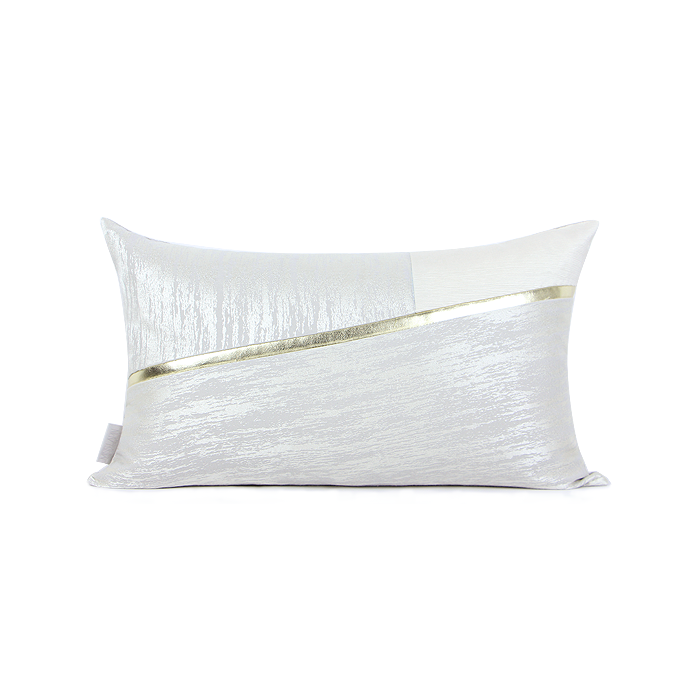 SNOW White Two-tone Cushion