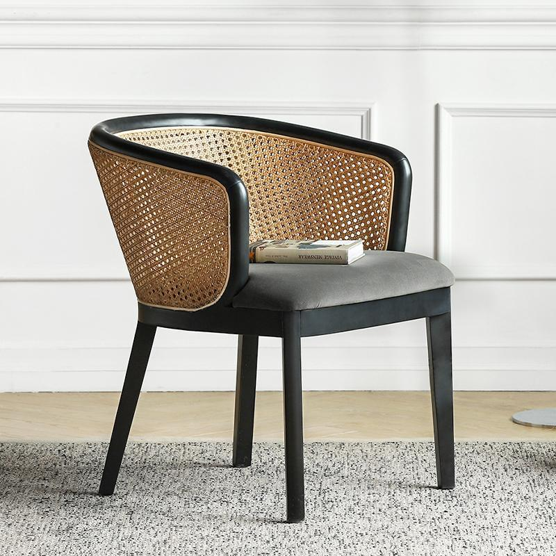 Candice Cane Chair - Grey
