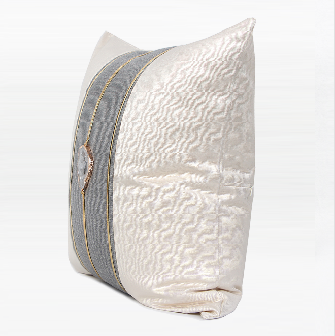 White Gem Cushion