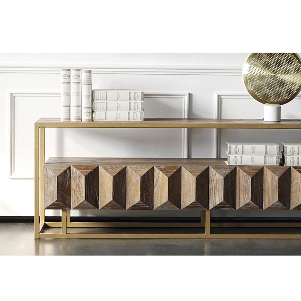 Lanty Luxury Elm Console Table