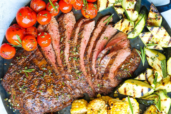 Grilled Flank Steak and Vegetables