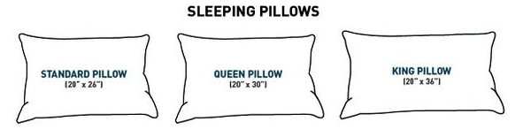 Choose the pillow size