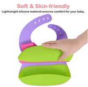 Baby Bib, 2-Pack Silicone Bibs Wholesale