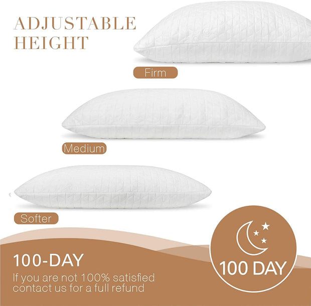 Adoric Bamboo Pillow, Shredded Memory Foam Pillow
