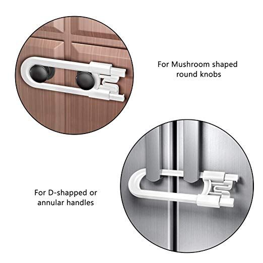 Cabinet Locks Child Safety, 8 Pack Cabinet Locks Child Proof Cabinet Locks Baby Proof Your Kitchen, Bathroom, and Storage Doors, Baby - Easy Install Without Drilling or Adhesive (8 pack)  UPS: 9466345936762