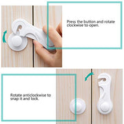 Baby Safety Cabinet Locks with Strong Adhesive Tape
