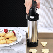 Adoric™ Deluxe Biscuit Maker Cookie Press, Stainless Steel, Including Shapes Disks