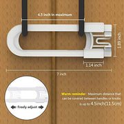 Adoric Baby Safe Lock, U-Shaped Sliding Child Safety Locks