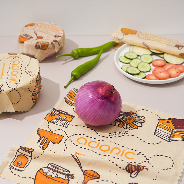 Adoric Unique Wrapping Paper, Reusable Beeswax Food Wraps