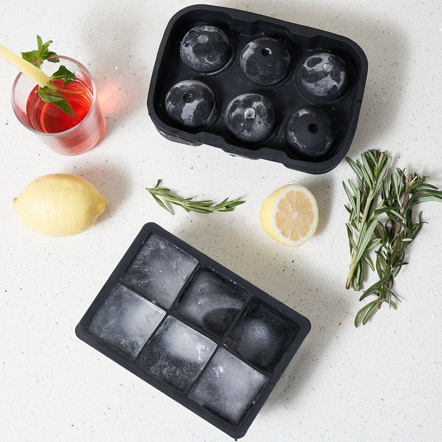 Adoric Silicone Ice Cube Trays , BPA Free Ice Tray for Whiskey Cocktails  - 2 Pack