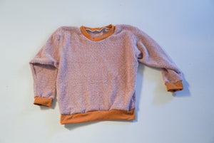 4-5T Mauve Fuzzy Lounge Sweater