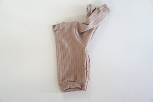 2-3T Mocha Ribbed Lounge Sweater
