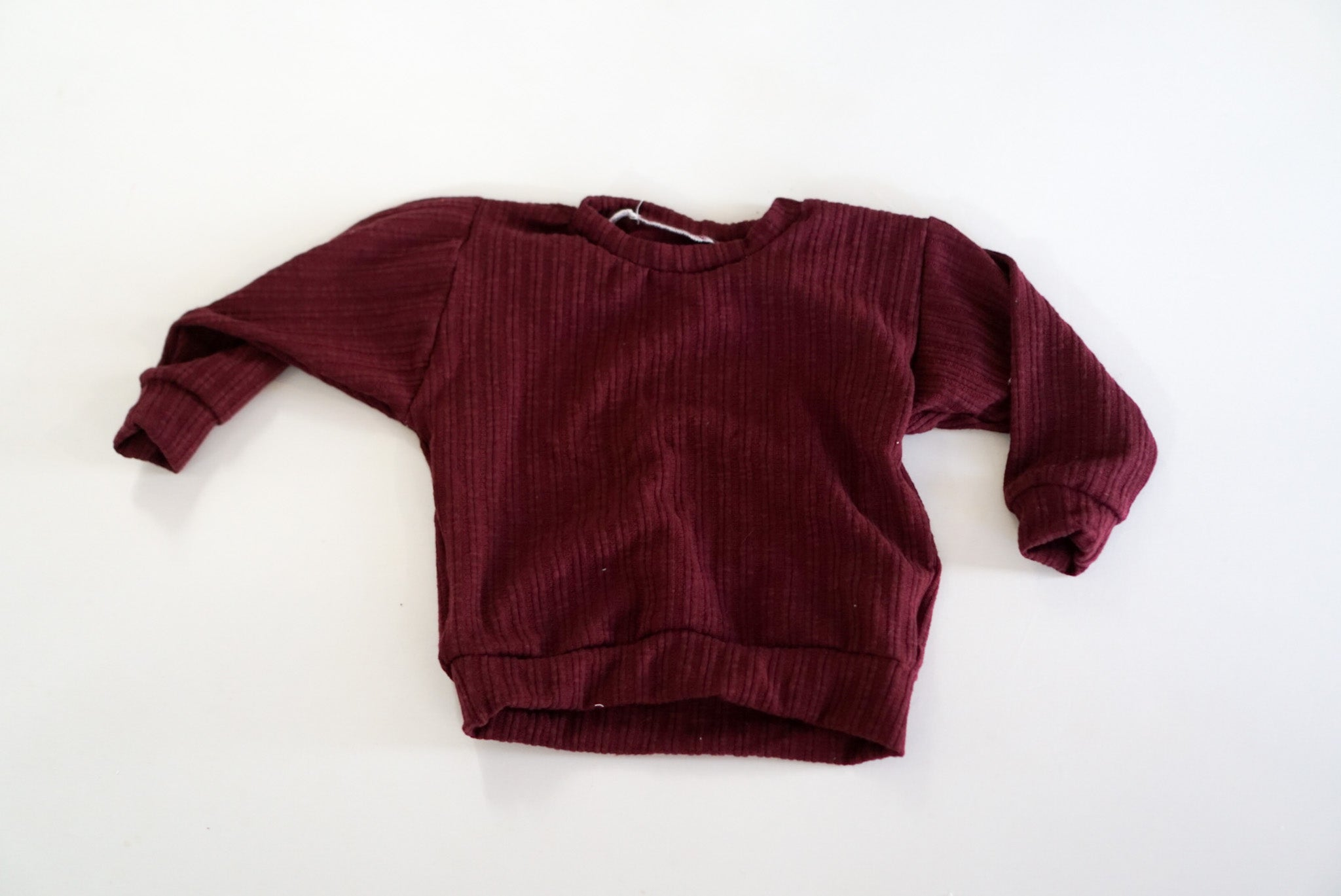 18-24 Burgundy Ribbed Lounge Sweater