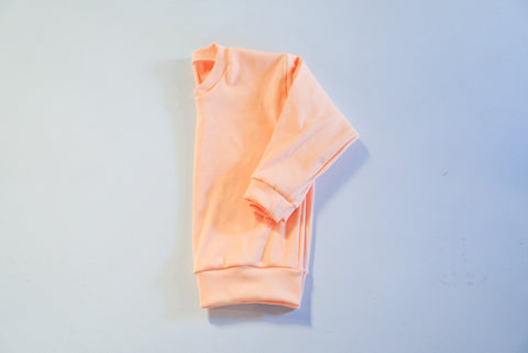 2-3T Peach Ribbed Lounge Sweater
