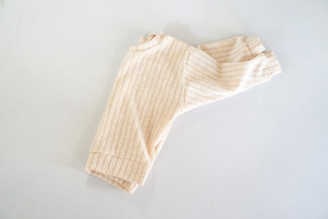 12-18 Oatmeal Ribbed Lounge Sweater