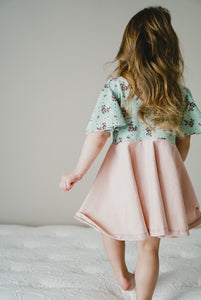 Swing Dress with Flounce Sleeve
