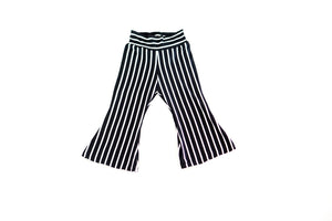 Black and White Pinstripe Bell Bottoms