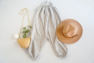 *mini* Gray Double Guaze Boho Romper