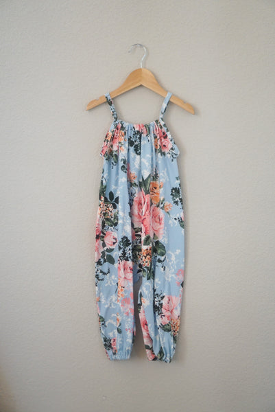 *mini* Sky Blue Boho Romper