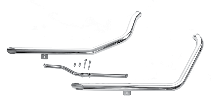 Staggered Dual Exhaust Systems  For 1984–1999 Evolution Softails