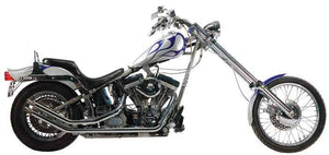 Upsweep Drag Pipes And Fishtails For 1986 - 1999 5 Speed Evolution Softails