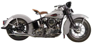 Knucklehead Crossover and Shotgun Headpipes For 1936 - 1947