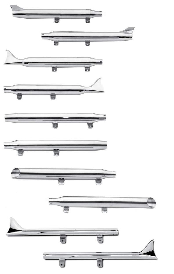 Mufflers And Fishtail Extensions For 1997-2006 FLSTS