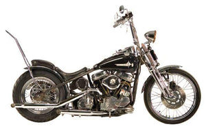 Panhead Over The Transmission 'S' Pipe Staggered Duals For 1948 - 1964