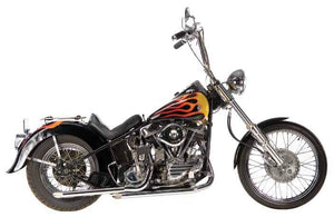 Panhead Staggered Dual Exhaust Systems For 1948 - 1964