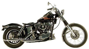 Shovelhead Over The Transmission 'S' Pipe Staggered Duals For 1966 - 1969