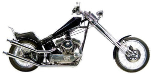 Upsweep Shotgun Exhaust Systems For 1986 - 2003 Rigid Frame Evolution Sportsters